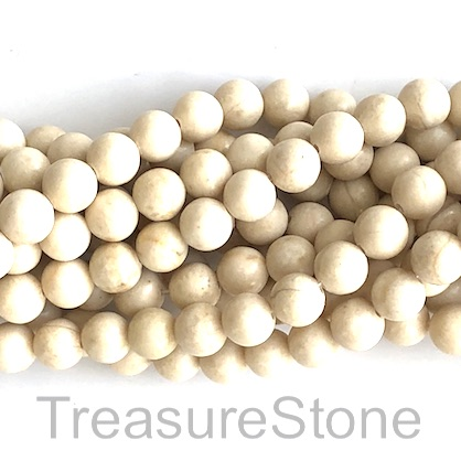 Bead, rive stone, 8mm round. 15-inch strand, 47pcs